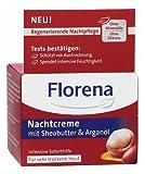 Florena Gesichtspflege Nachtcreme mit Sheabutter und Arganöl, 50 ml
