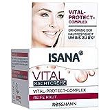 ISANA Vital Nachtcreme 50 ml für reife Haut, mit Vital-Protect-Complex, Erhöhung der...