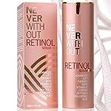 Retinol kombiniert mit Hyaluron Serum hochdosiert mit straffenden Peptiden, Kollagen und Vitamin A,...